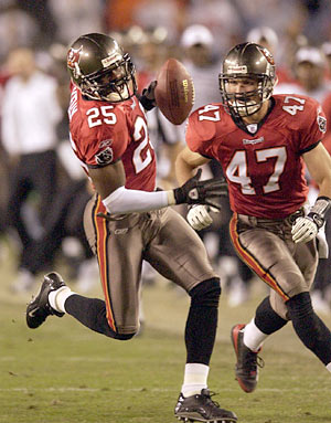 Tampa Bay Buccaneers cornerback Brian Kelly
