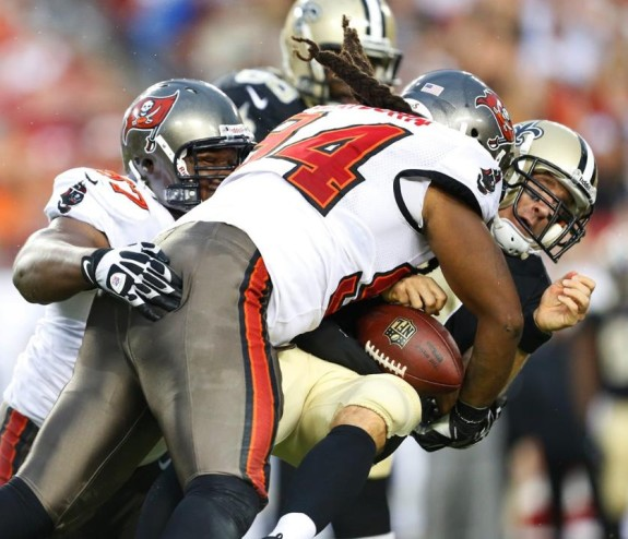 BUCs vs Saints 2013 Clayborn Brees