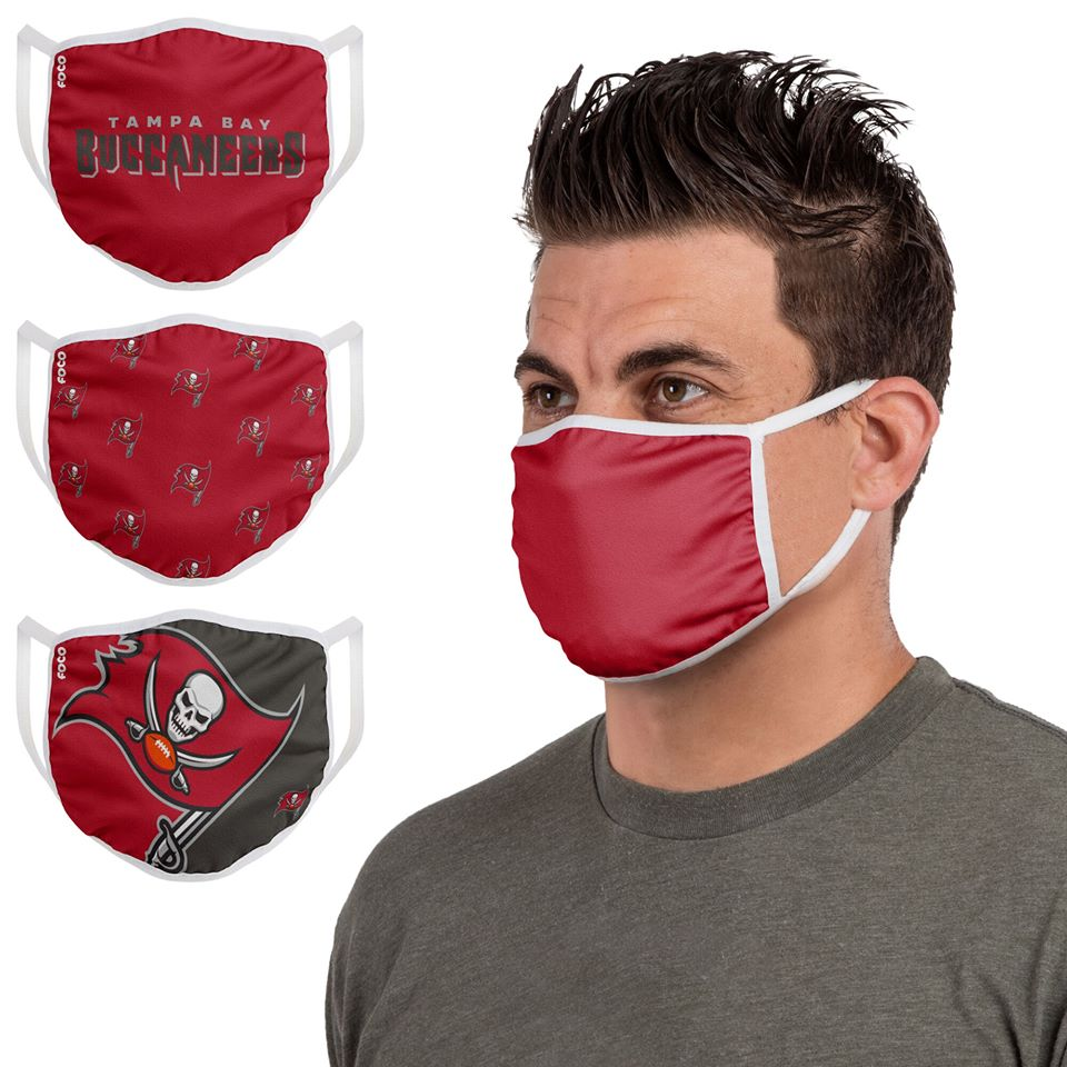 Tampa Bay Buccaneers face masks