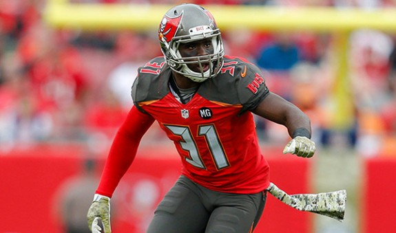 TAMPA, FL - NOVEMBER 9: Safety Major Wright #31 of the Tampa Bay Buccaneers during the game against the Atlanta Falcons at Raymond James Stadium on November 9, 2014, in Tampa, Florida. The Buccaneers lost 27-17 (photo by Mike Carlson/Tampa Bay Buccaneers)