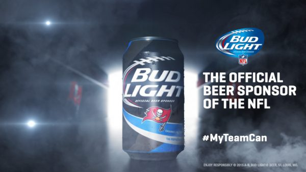 Tampa Bay Buccaneers Bud Light Can